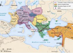 First crusade map from sites 6