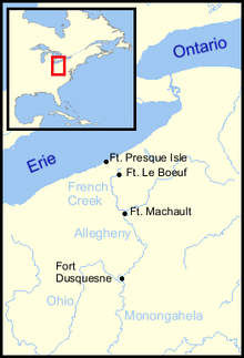 Fort duquesne map from en 1