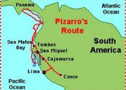 Francisco Pizarro Route Map: Francisco pizarro route map from pinterest 1
