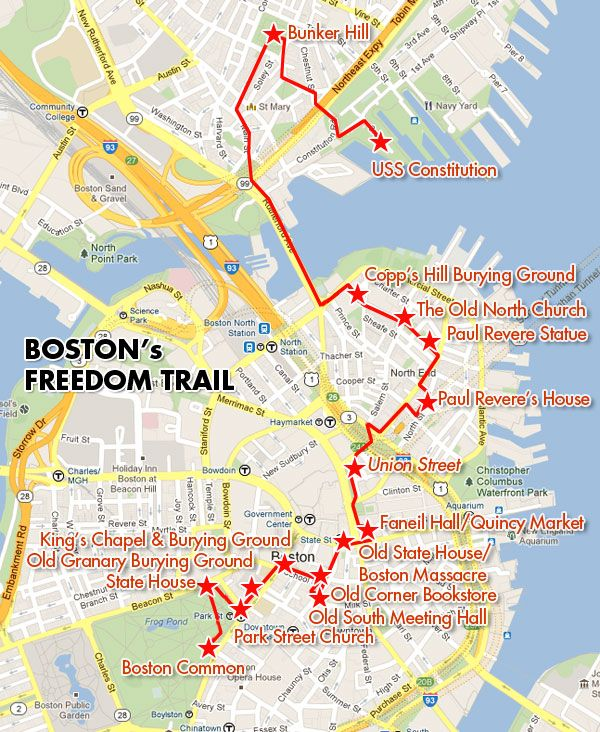 Freedom Trail Map