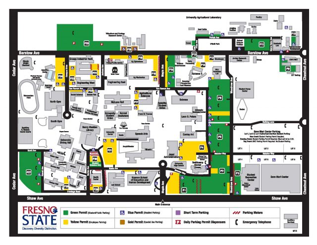 Fresno state map from csufresno 1
