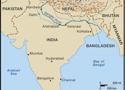 Ganges river map from in 9