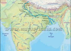 Ganges river map from n2prise 6