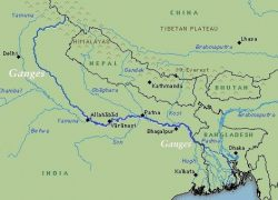 Ganges river map from researchgate 3
