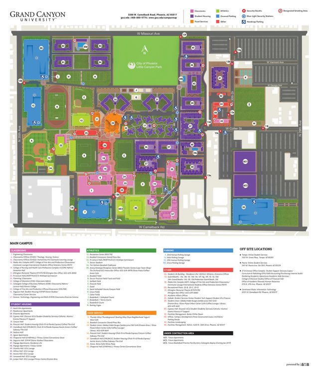 Gcu campus map from behance 1