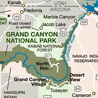 Grand Canyon On Us Map