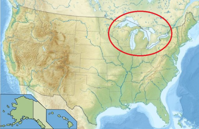Great Lakes On Us Map