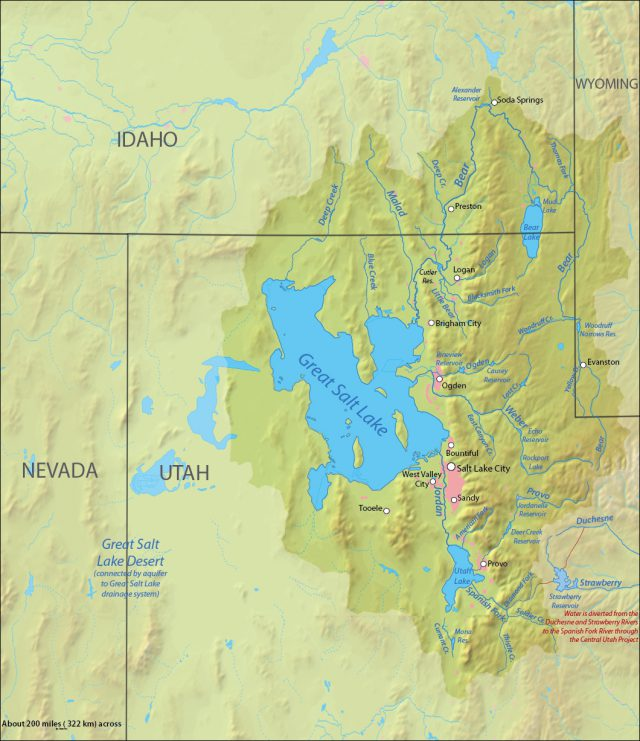Great salt lake on map from commons 2