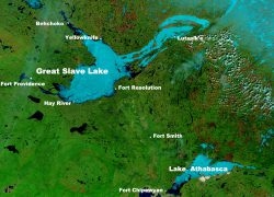 Great Slave Lake Map: Great slave lake map from en 1