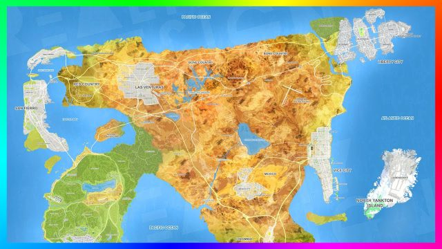 Gta 6 map from youtube 1