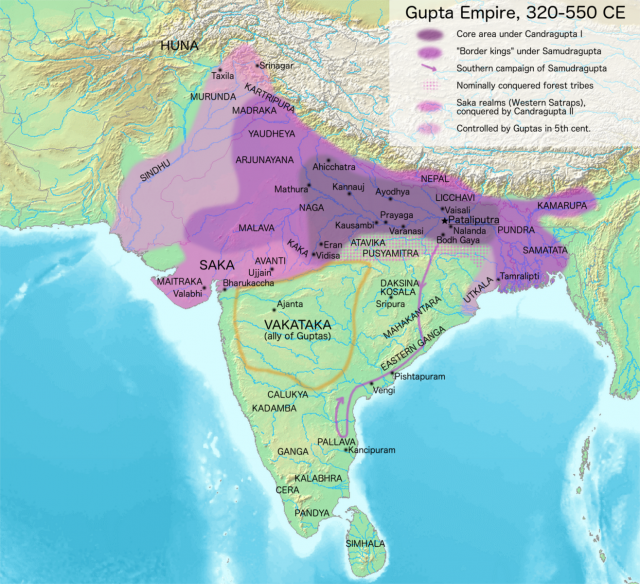 Gupta Empire Map