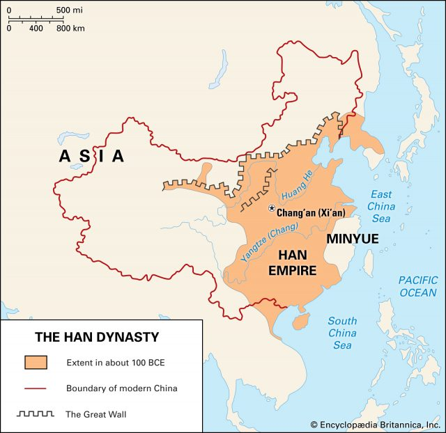 Han dynasty map from britannica 1