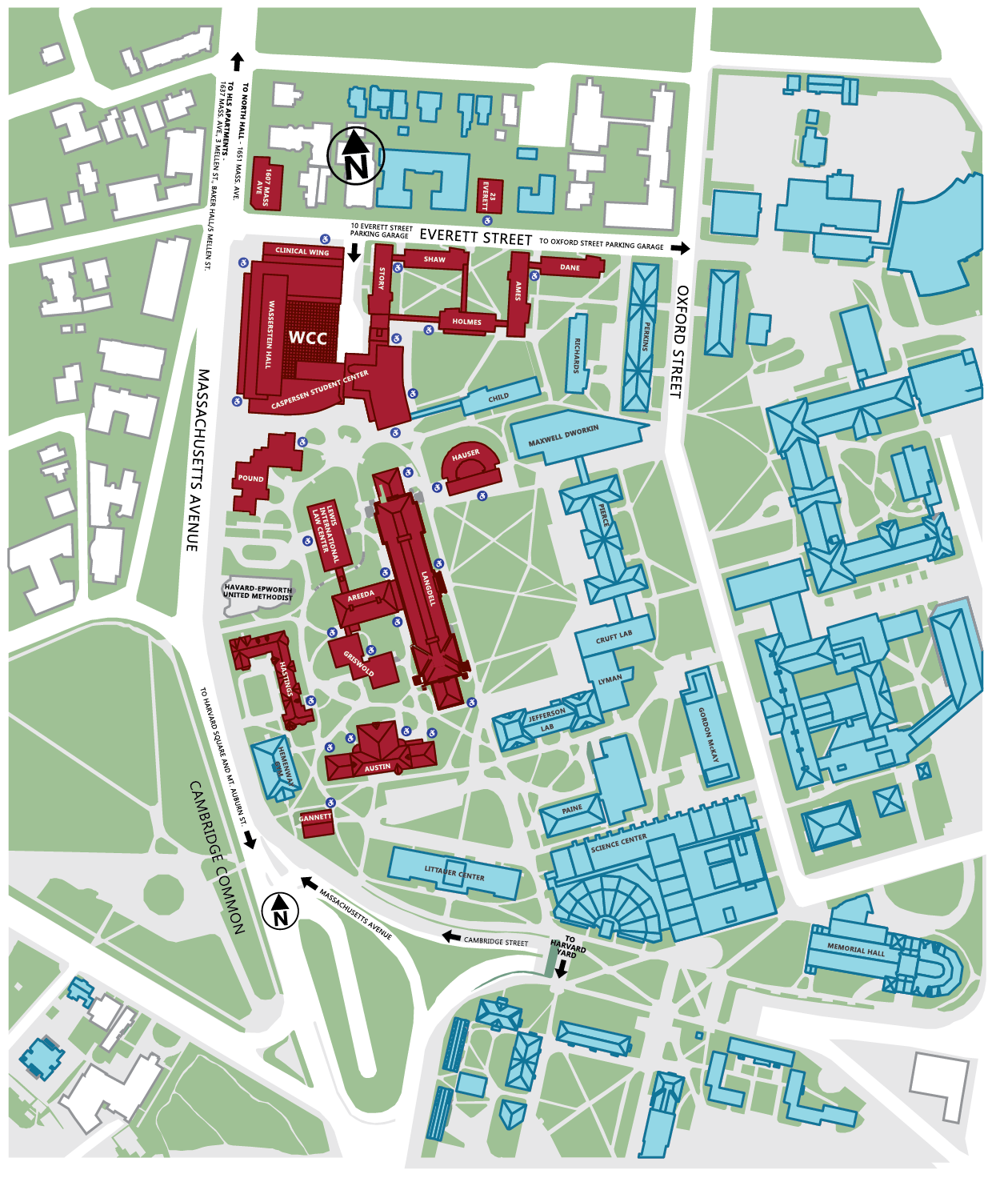 Harvard Campus Map From Hls 1