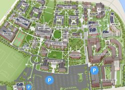 Harvard campus map from id 4