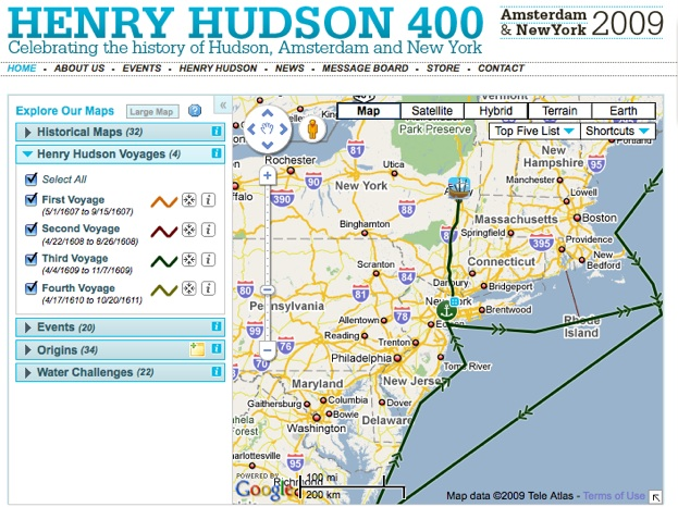 Henry Hudson Route Map