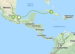 Hernan Cortes Route Map: Hernan cortes route map from exploration 1