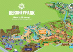 Hershey Park Map: Hershey park map from hersheypark 1