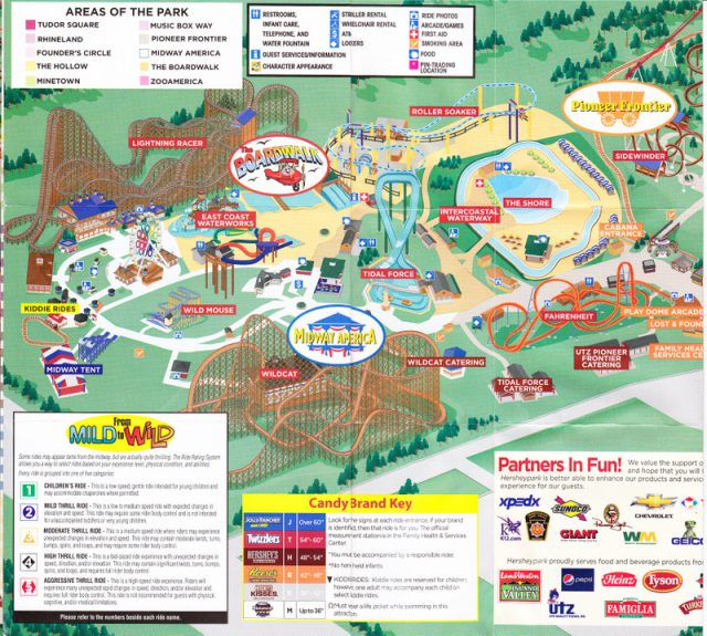 Hershey Park Map