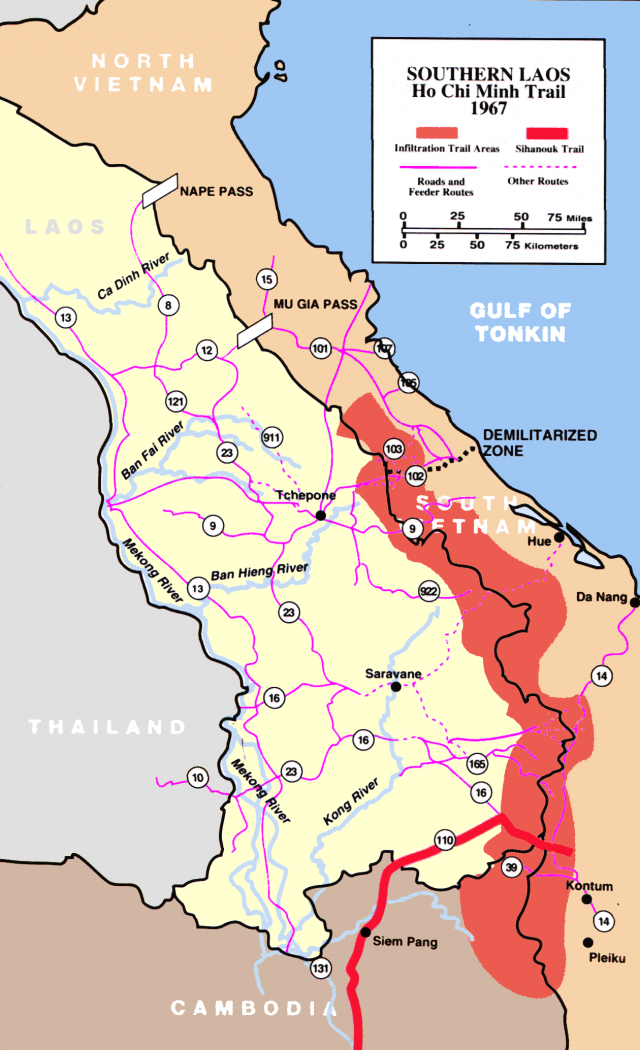 Ho chi minh trail map from en 1