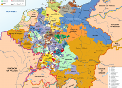 Holy Roman Empire Map: Holy roman empire map from commons 1