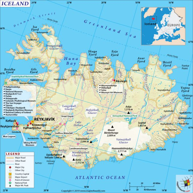 Iceland map from mapsofworld 1