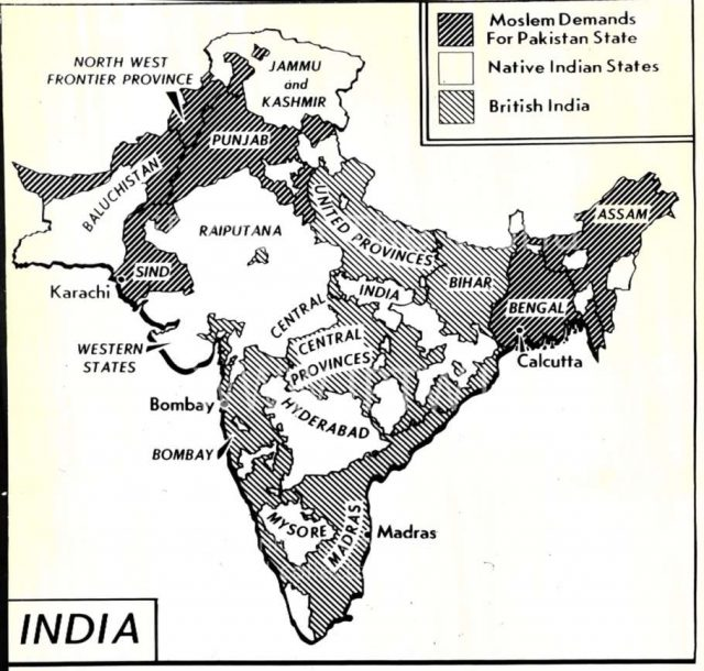 India map before 1947 from columbia 1