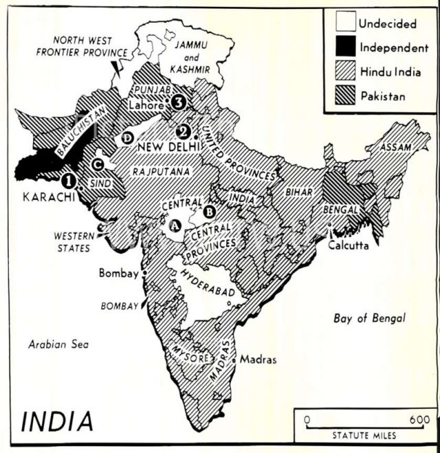 India Map Before 1947