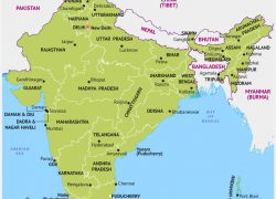 India Map With States And Capitals: India map with states and capitals from mapsofindia 1