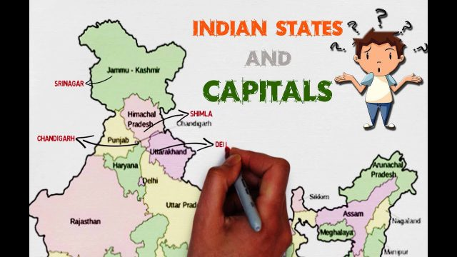 India Map With States And Capitals
