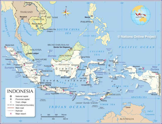 Indonesia political map from nationsonline 1
