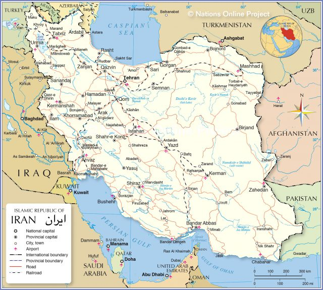 Iran map from nationsonline 1
