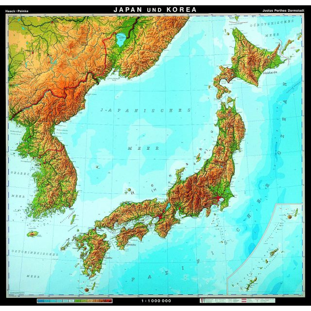 Japan physical map from mapshop 1