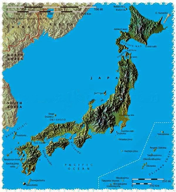 Japan Physical Map