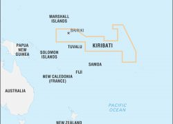 Kiribati Map: Kiribati map from britannica 1