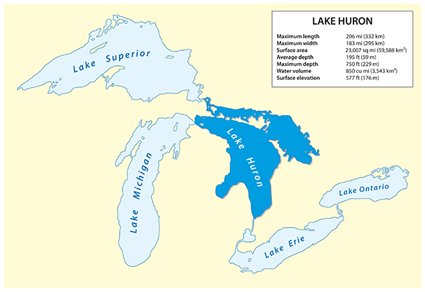 Lake huron map from eekwi 1