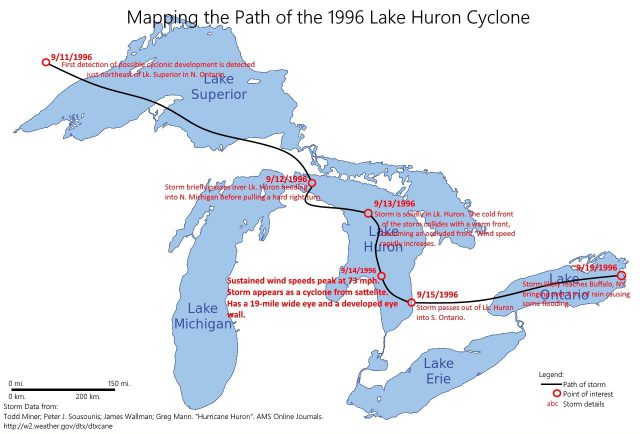 Lake Huron Map