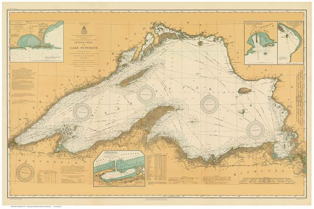 Lake superior map from amazon 2