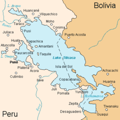 Lake titicaca map from en 1
