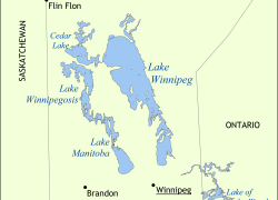 Lake Winnipeg Map: Lake winnipeg map from en 1