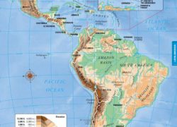 Latin America Physical Map: Latin america physical map from pinterest 1
