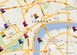 London Tourist Map: London tourist map from visitlondon 1