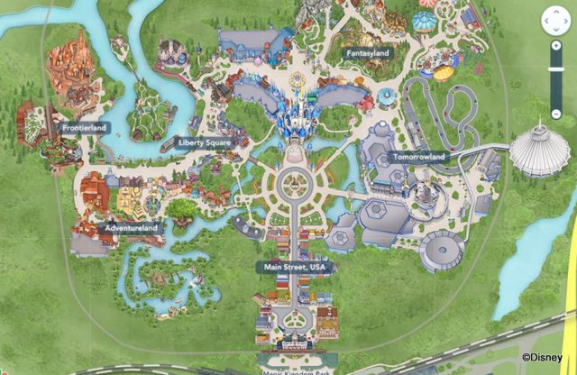 Magic Kingdom Map 2020