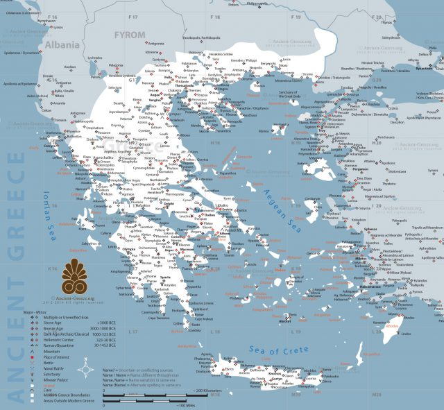 Map of ancient greece from ancient greece 1
