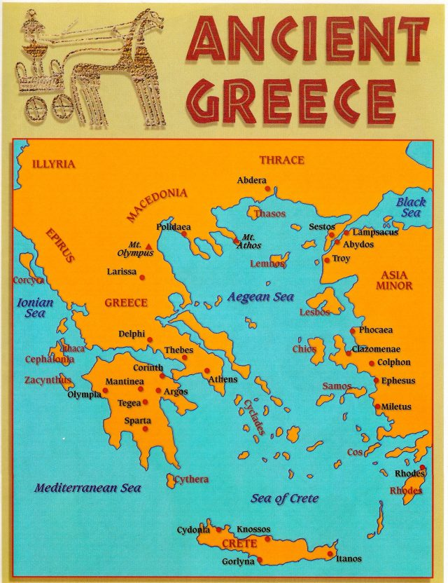 Map Of Ancient Greece