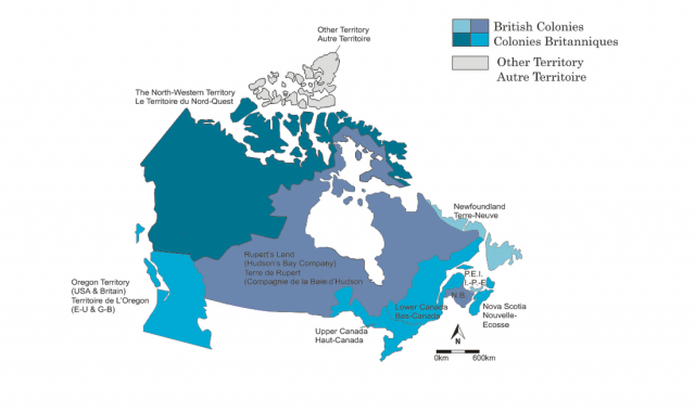 Map Of Canada 1862