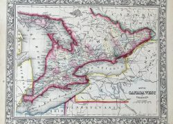 Map of canada 1862 from etsy 4