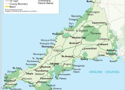 Map Of Cornwall: Map of cornwall from pinterest 1