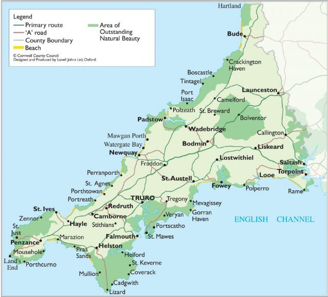 Map of cornwall from pinterest 1