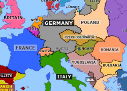 Map Of Europe 1938