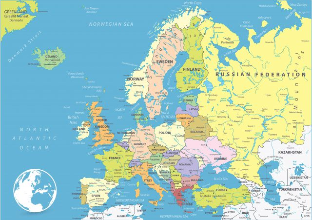 Map Of Europe Political